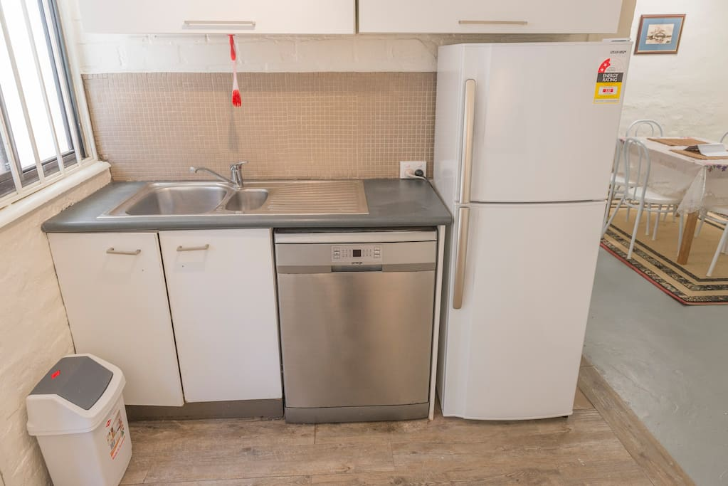 The kitchen is simple, but clean. Appliances are new.