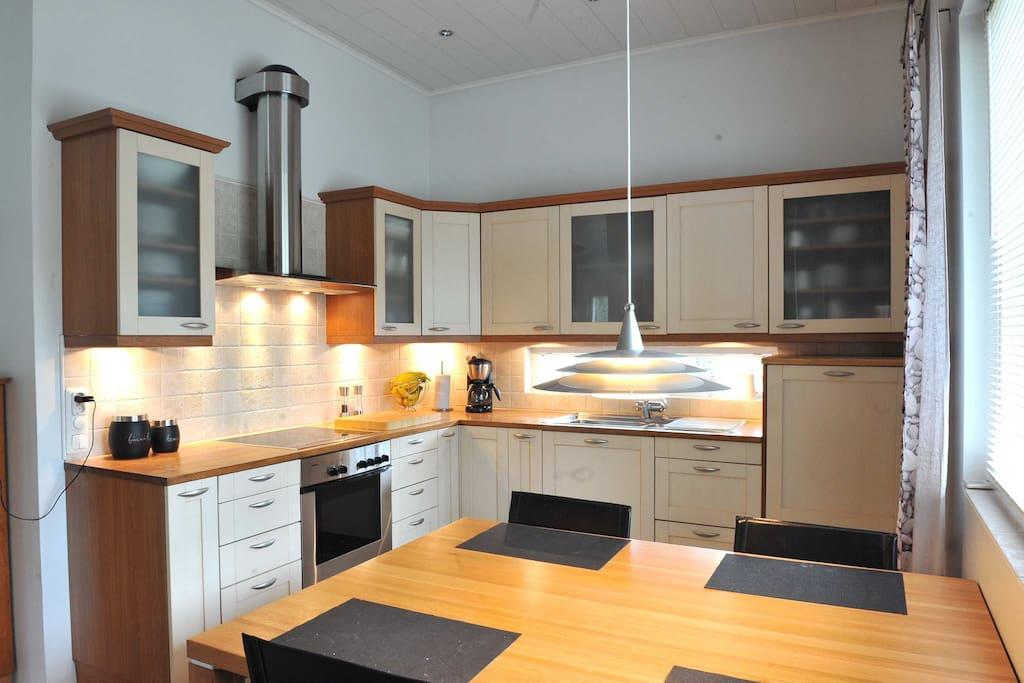 Our spacious kitchen.