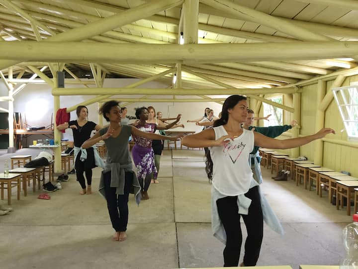 Hula class in Germany