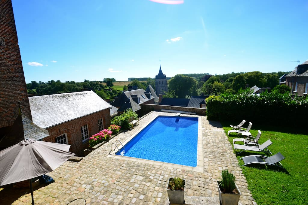G te en normandie avec piscine priv e et chauff e villas for Vacances en normandie avec piscine