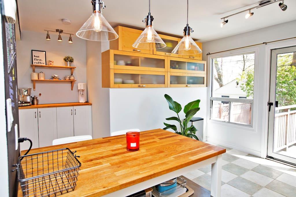 Modern kitchen with coffee bar