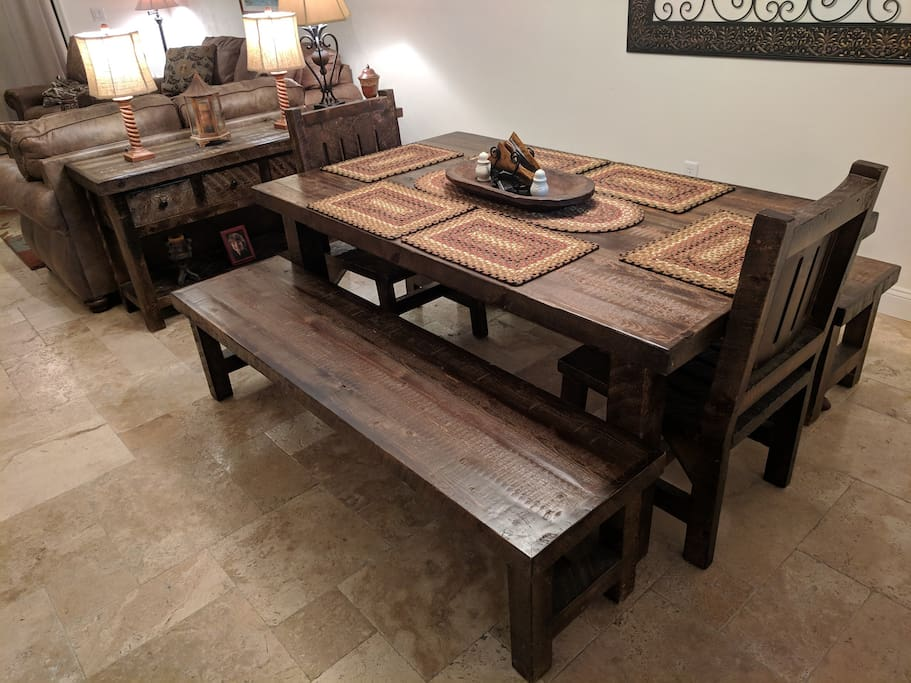 Beautiful Reclaimed Barn Wood Kitchen Table