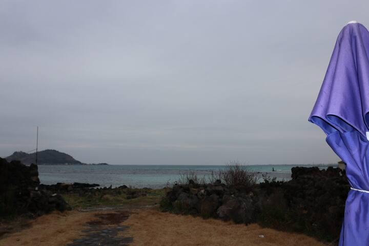 바다별채^별채^독채 2층최고의 바다뷰! 바다앞위치 연인을 위한 휴식처   해수욕장도보1분