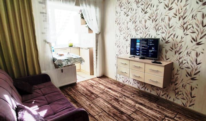 Квартира - студия в ЖК Радужный.