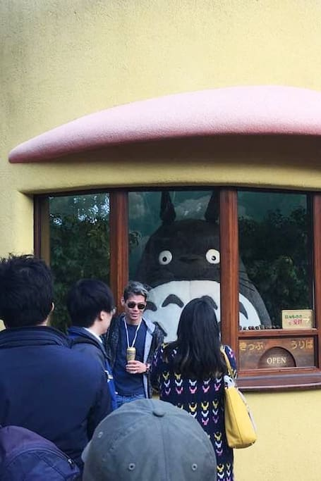 Totoro welcomes guests.