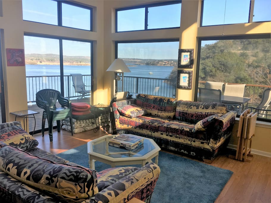 Living Room with Lake view.