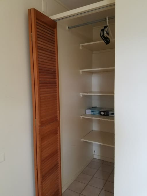 closet space for your belongings