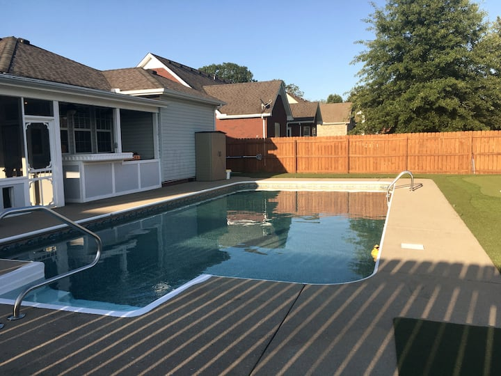 Great pool escape with wonderful house attached