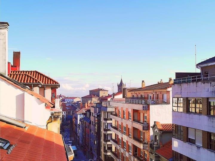 Oviedo centro - El Rosal. Parking y Wifi