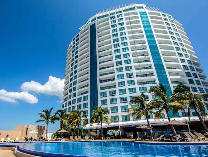 Beachfront condo at Mazatlan