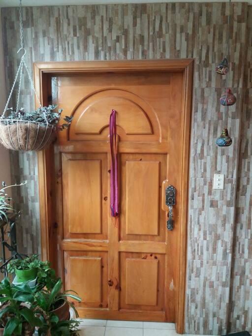 Nuestra casa tiene plantitas a la entrada
