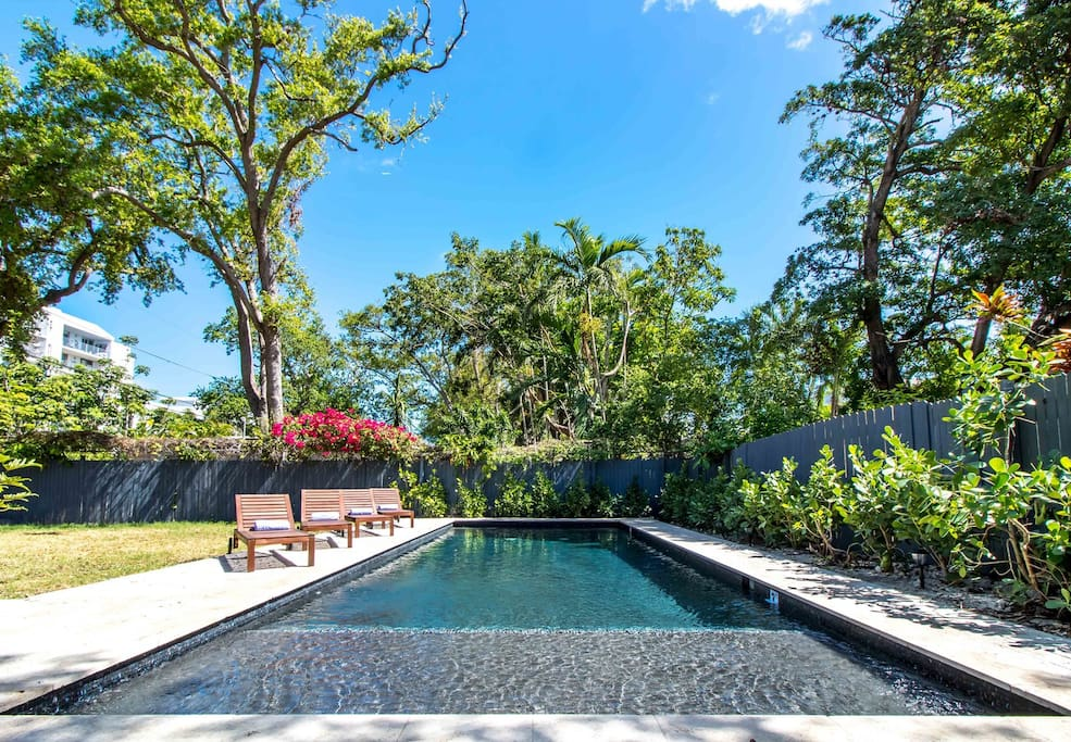 Tranquil pool area