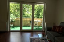 Green View from living room to the soutside balkony