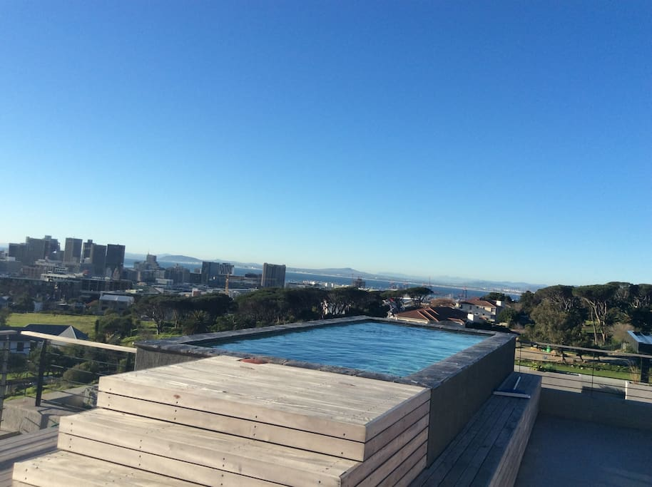 Shared pool area on rooftop