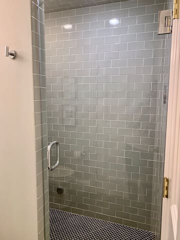 Luxurious steam shower. Perfect on a cool fall or winter day!