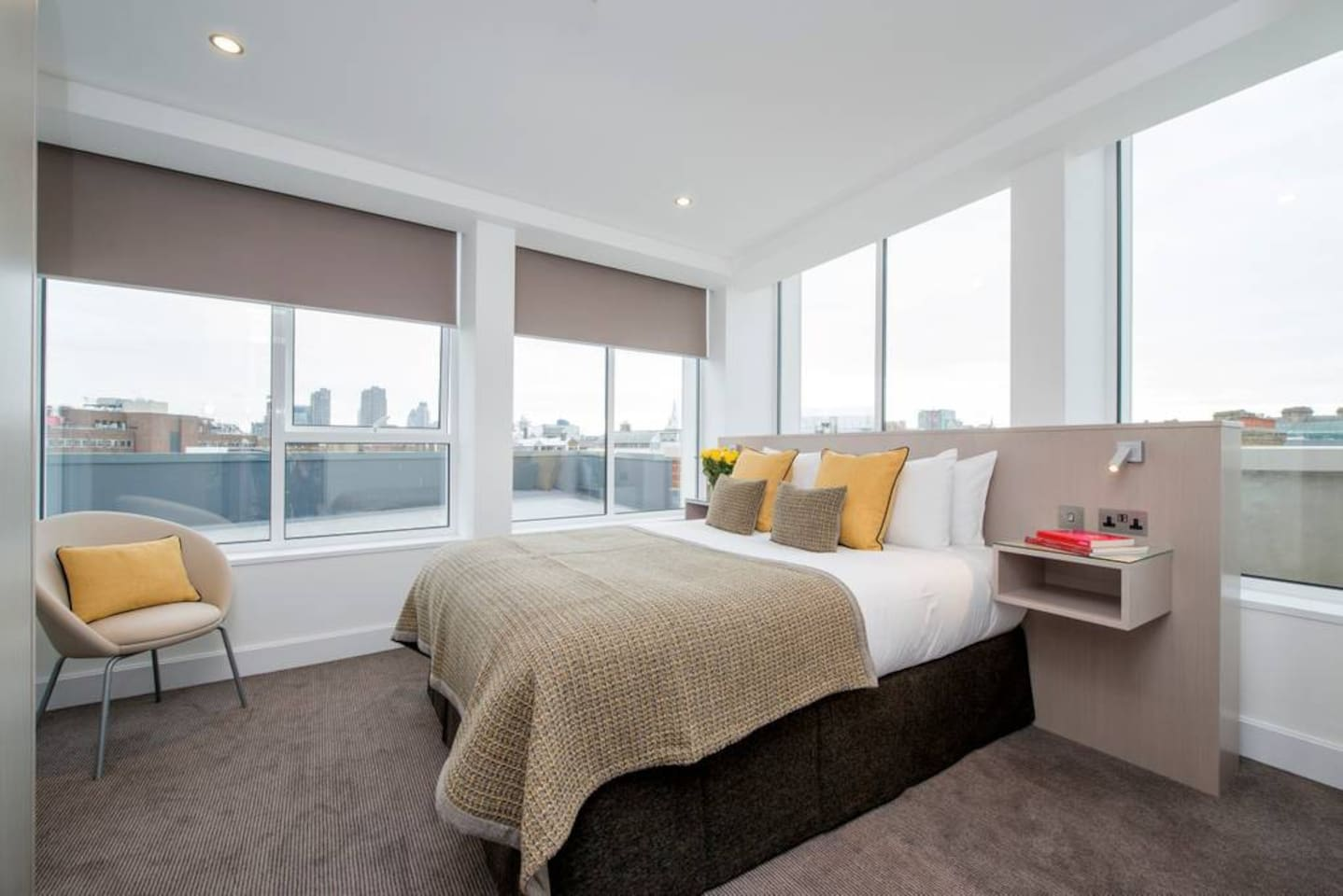 Our Two Bedroom City View apartments are approximately 54 sqm and have two bedrooms and two bathrooms with the master bedroom offering stunning views across the capital