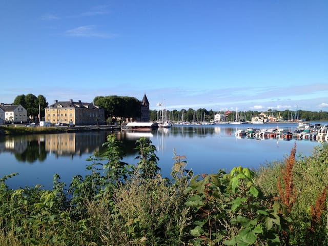 By the water and close to the Stockholm city!