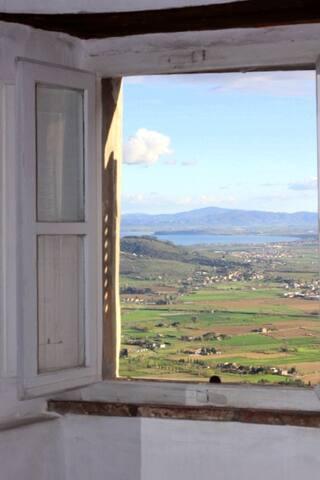 Casa con vista a Cortona