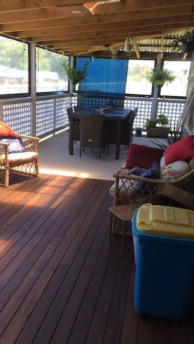 Backyard verandah