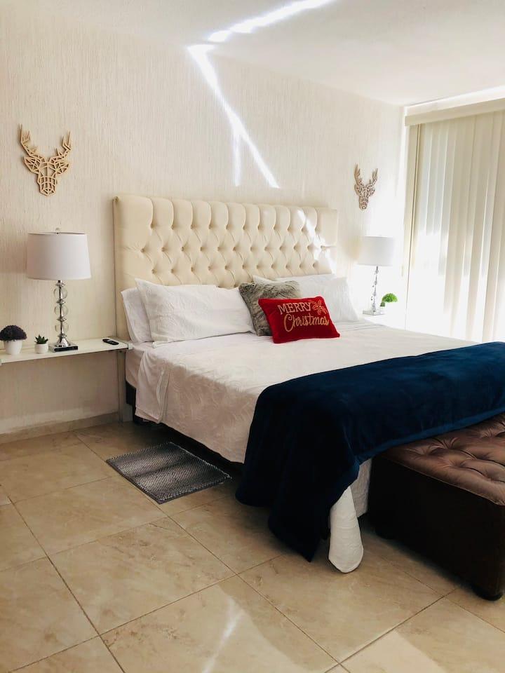 Depa nuevo cómodo de lujo con excelente ubicación