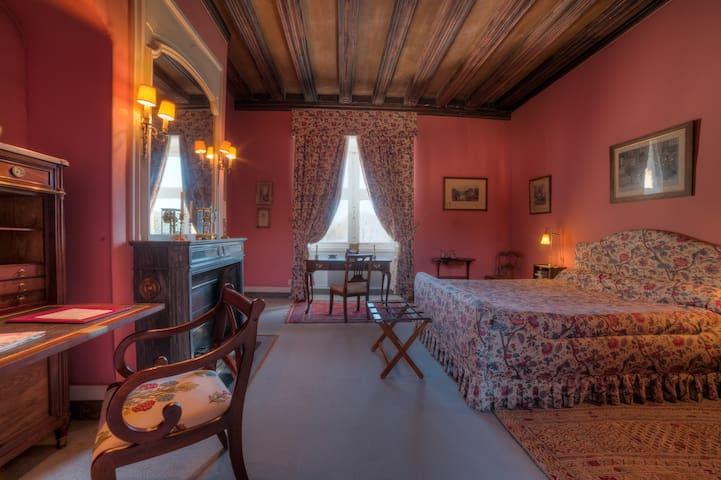 Belle chambre d'époque au Château de La Verrerie - Oizon - Castle