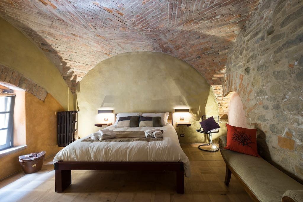 Bedroom offers quietness in 1000 year old walls
