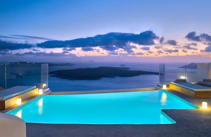 Villa Ioli Anastasia with private infinity pool