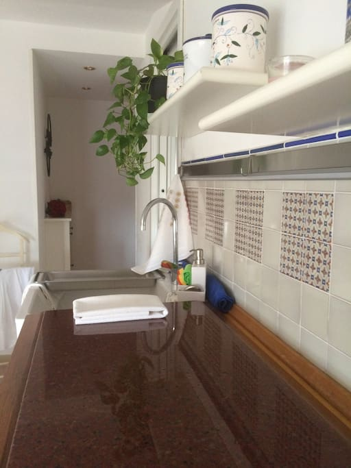 Piano di marmo della cucina