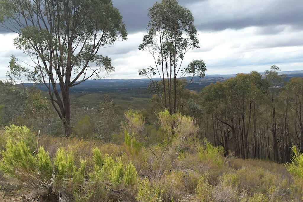Top of the property which looks out over the ranges