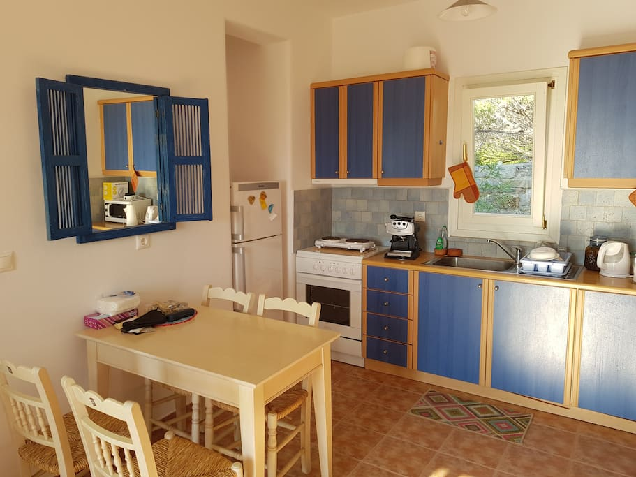 Vogel's house kitchen and the first room one encounters when entering the house.