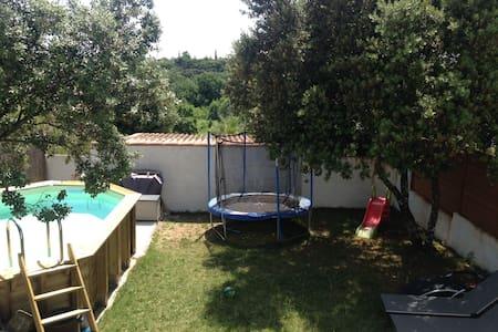 Maison 4. ch + jardin, proche plage & Montpellier - Restinclières - Casa