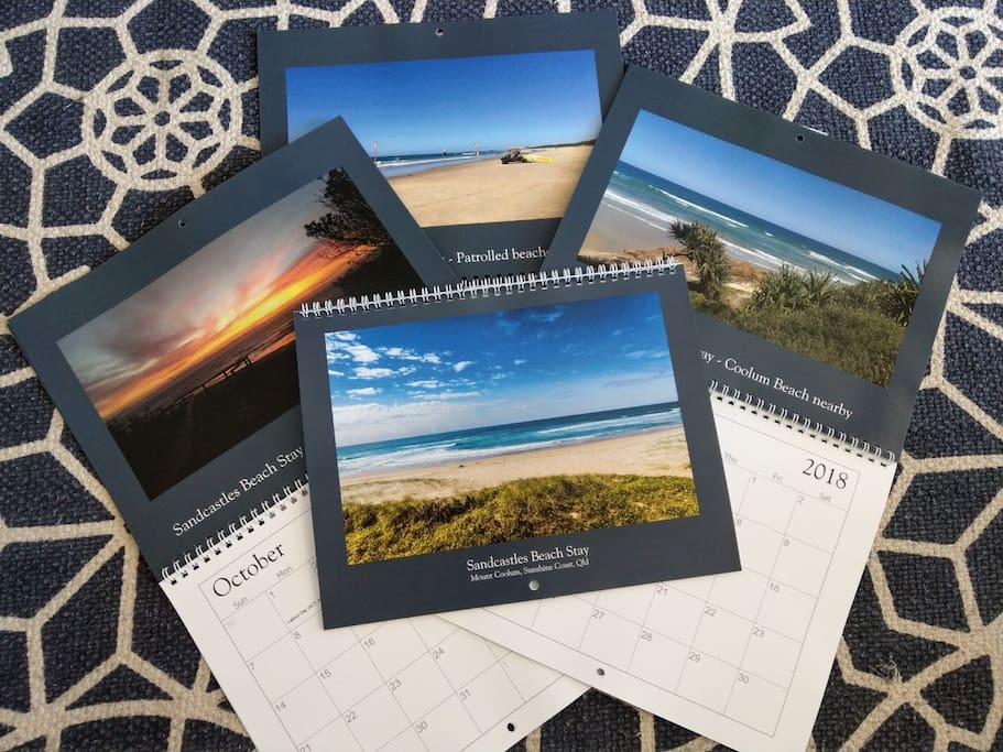 Exclusive 2018 calendar. Free for all stays in December and January, while stocks last!
