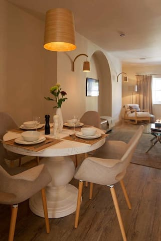 Dine or work in comfort in this brand new apartment.