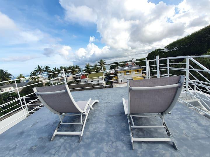 Crystal Villa 3 Duplex Trou d'eau Douce 50m plage