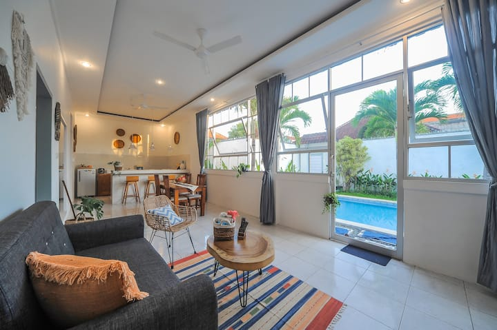 2 Bedrooms Tropical designed with spacious pool