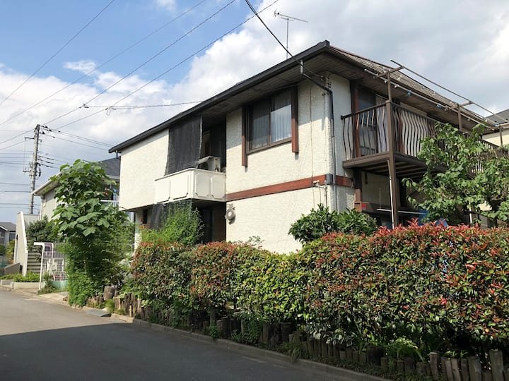 静かな住宅、ファミリーや大勢のグループ大歓迎、武蔵野大学の近く、交通と買い物が便利、
