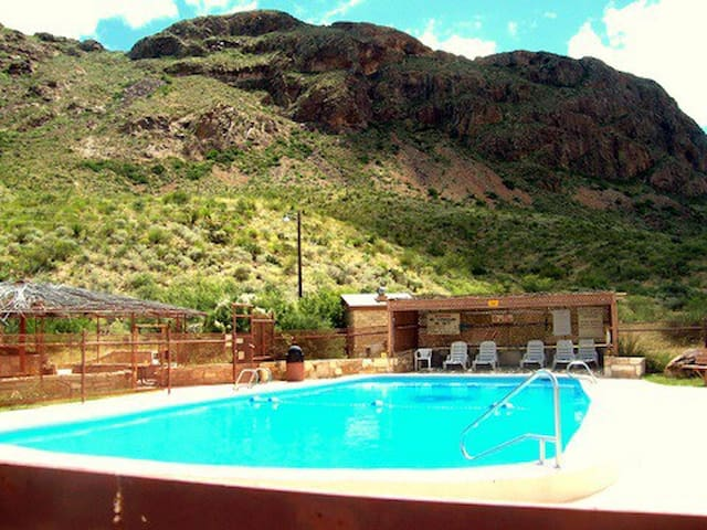 Terlingua Ranch Lodge swimming pool only 4 miles away.  ($5 pool key fee)