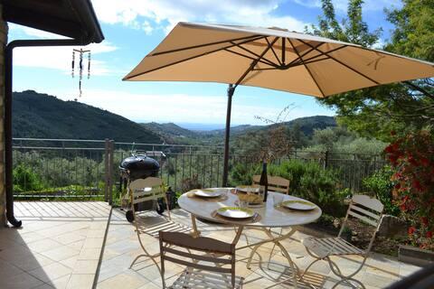 Casa La Mimosa,  Relax  into Olive Trees, seaview