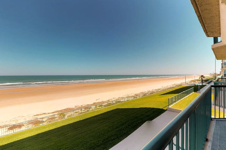 NEW LISTING! Oceanfront gem with shared sauna, pool, and direct beach access