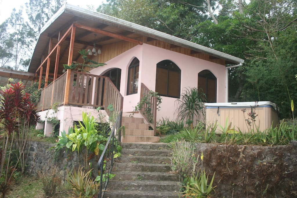 Steps to the Casita and nearby Jacuzzi.