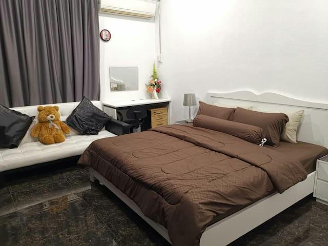 1st bedroom 1st floor & sofa bed in this room too.