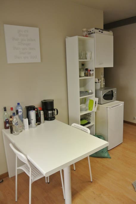 Your private break(fast) corner next to the fully equipped kitchen.