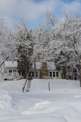 Cottage during winter