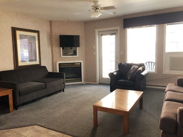 Spacious Living Room (with pull out couch)