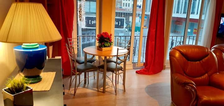 Liège : grand appartement avec terrasse