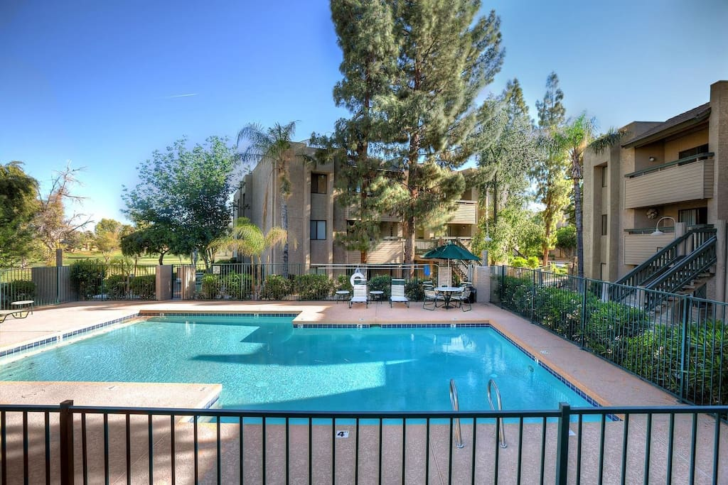 Pool with golf course views!