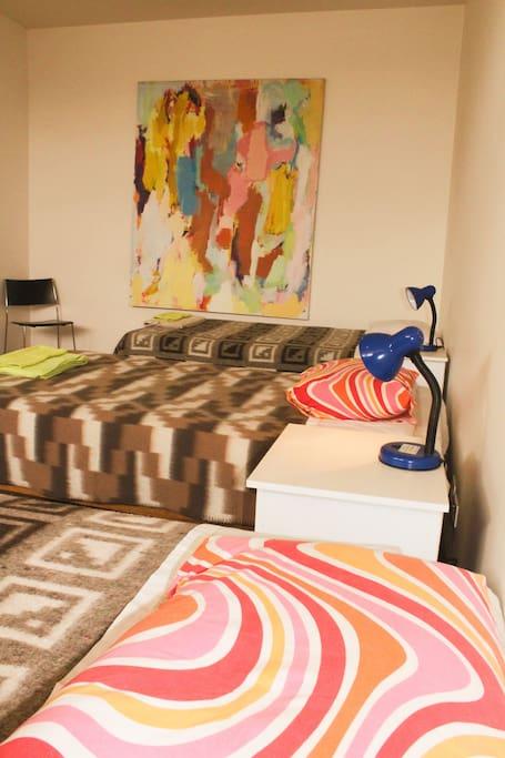 Slaapkamer met 1 tot 3 bedden