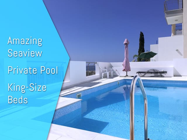 Sunset Seaview Villa, 2 Bedrooms & private Pool