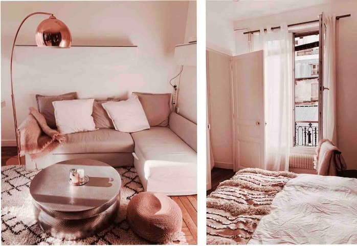 Appartement lumineux et cocooning 18e