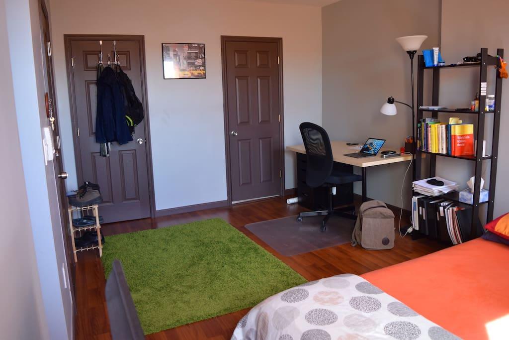 Closet and bathroom doors